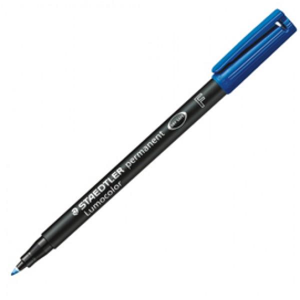 Pennarello Lumocolor Permanent 318 - punta 0,6 mm - blu - Staedtler