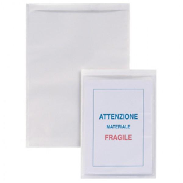 Buste autoadesive Iesti Strip - PVC - 15x21 cm - trasparente - Sei Rota - conf. 5 pezzi