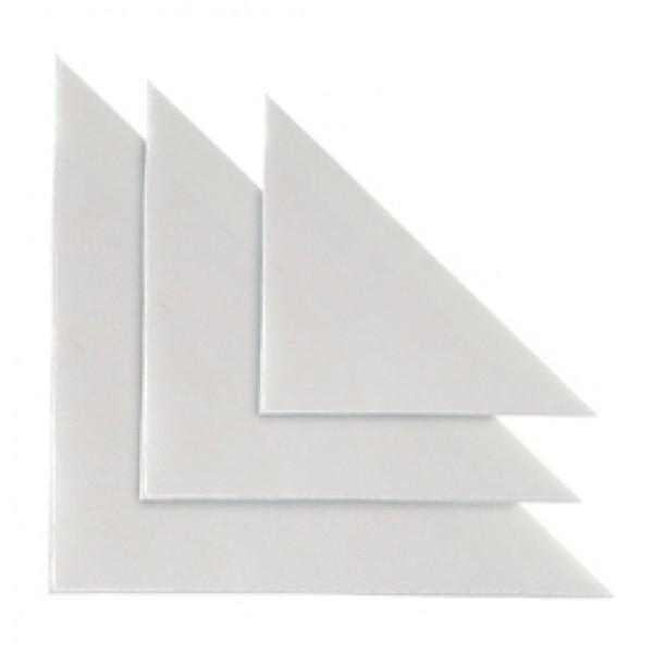 Busta autoadesiva triangolare TR 10 - PVC - 10x10 cm - trasparente - Sei Rota - conf. 10 pezzi