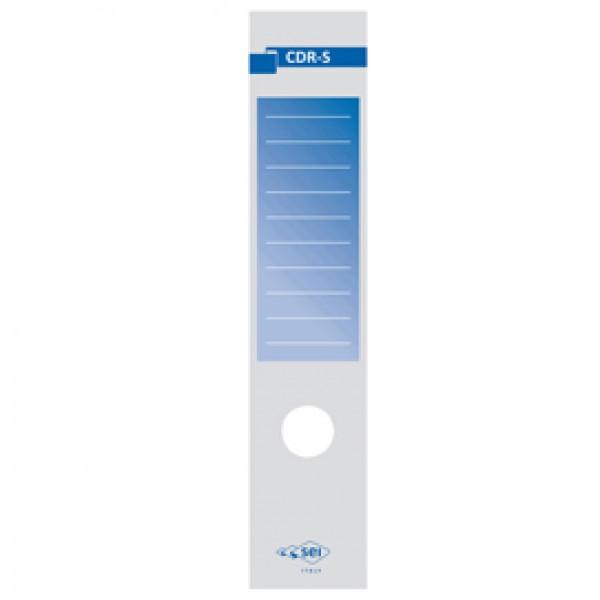 Copridorso CDR S - carta autoadesiva - blu - 7x34,5 cm - Sei Rota - conf. 10 pezzi