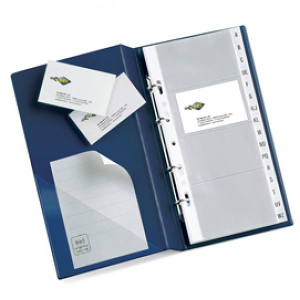 Portabiglietti Visita MC 30 - 16,5 x 28 cm - 320 biglietti - blu - Sei Rota