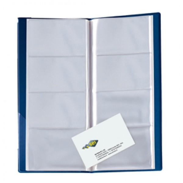 Portabiglietti Eco Visita 16 - 12,5 x 27,5 cm - 128 biglietti - blu - Sei Rota