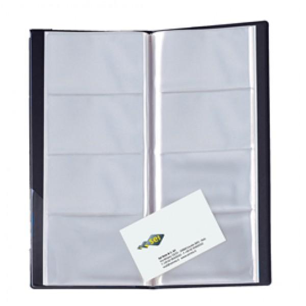 Portabiglietti Eco Visita 16 - 12,5 x 27,5 cm - 128 biglietti - nero - Sei Rota