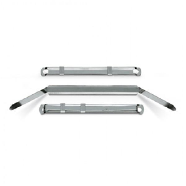 Pressini fermafogli - metallo - 12 x 80 mm - Lebez - conf. 50 pezzi