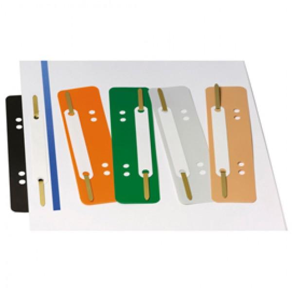 Pressini fermafogli - con linguette in metallo - 38 x 150 mm - colori assortiti - Lebez - conf. 250 pezzi