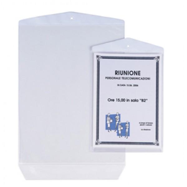 Buste Porta Avvisi Appendicartello - PVC - 22x30 cm - trasparente - Sei Rota - conf. 10 pezzi