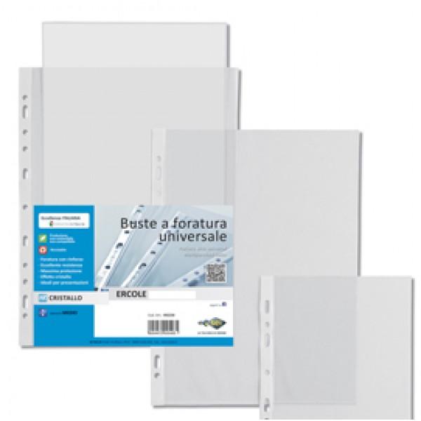 Buste forate Ercole - 30x42 cm (libro) - trasparente - Sei Rota - conf. 10 pezzi