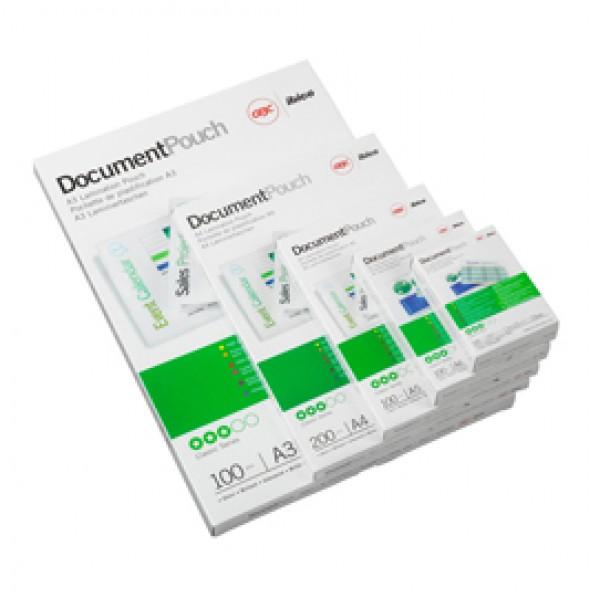 Pouches - government card - 65x95mm - 2x250 micron - GBC - scatola 100 pezzi