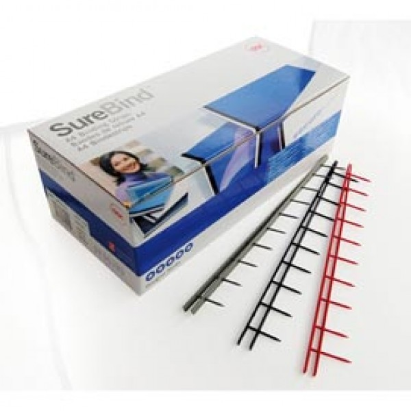 Pettini Surebind - 10 denti - 25 mm - nero - GBC - scatola 100 pezzi