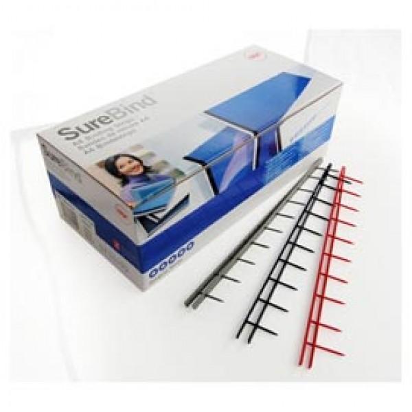 Pettini Surebind - 10 denti - 50 mm - nero - GBC - scatola 100 pezzi