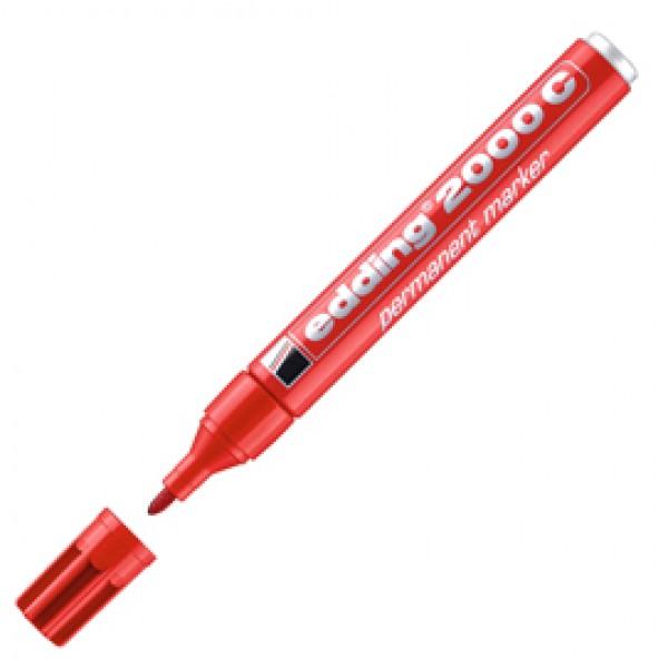 Marcatore Edding 2000c  - punta tonda 1,5 - 3 mm - rosso - Edding
