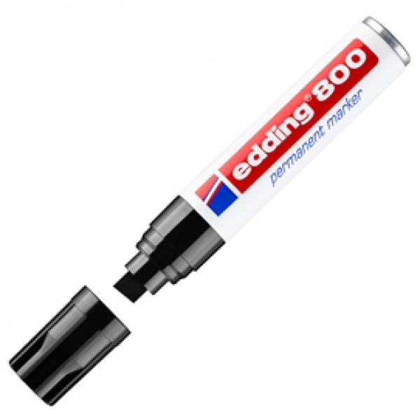 Marcatore Permanente Edding 800 - punta 4,0 - 12 mm - nero - Edding