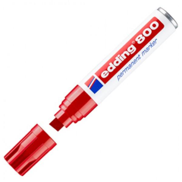 Marcatore Permanente Edding 800  - punta 4,0 - 12 mm - rosso - Edding