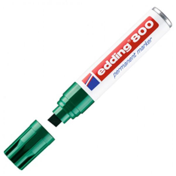 Marcatore permanente Edding 800 - punta 4 - 12 mm - verde - Edding