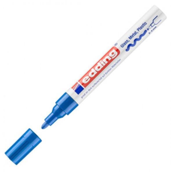 Marcatore permanente a vernice 750 - punta 2 - 4 mm - blu - Edding