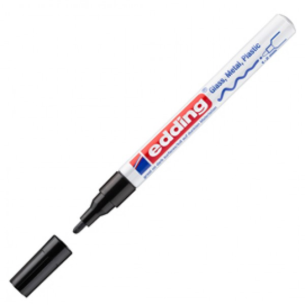 Marcatore permanente a vernice 751 - punta da 1,0 a 2,0mm - nero - Edding