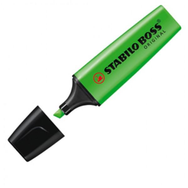 Evidenziatore Stabilo Boss Original - punta a scalpello - tratto 2,0mm-5,0mm  - verde - Stabilo
