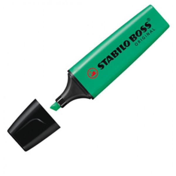 Evidenziatore Stabilo Boss Original - punta a scalpello - tratto 2,0mm-5,0mm - turchese - Stabilo