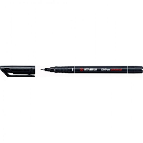 Pennarello OHPen universal permanente 841 - punta superfine 0,4 mm - nero - Stabilo