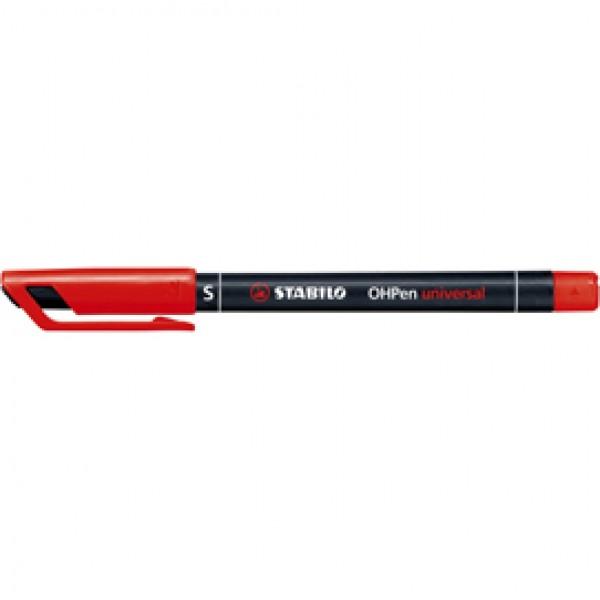Pennarello OHPen universal permanente 841 - punta superfine 0,4 mm - rosso - Stabilo