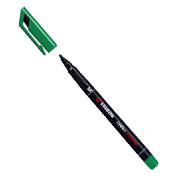 Pennarello OHPen universal permanente 843 - punta media 1 mm - verde - Stabilo