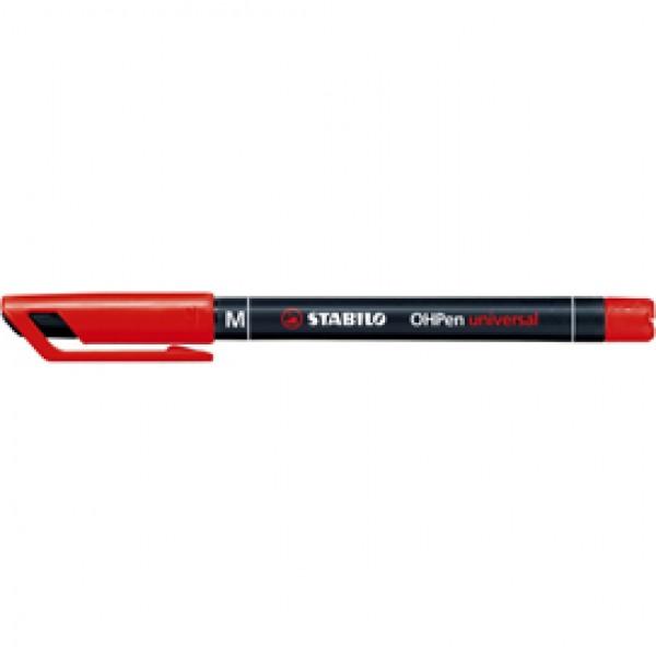 Pennarello OHPen universal permanente 843  - punta media 1,0 mm - rosso - Stabilo