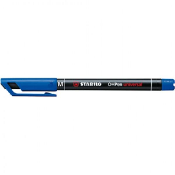 Pennarello OHPen universal permanente 843 - punta media 1 mm - blu - Stabilo