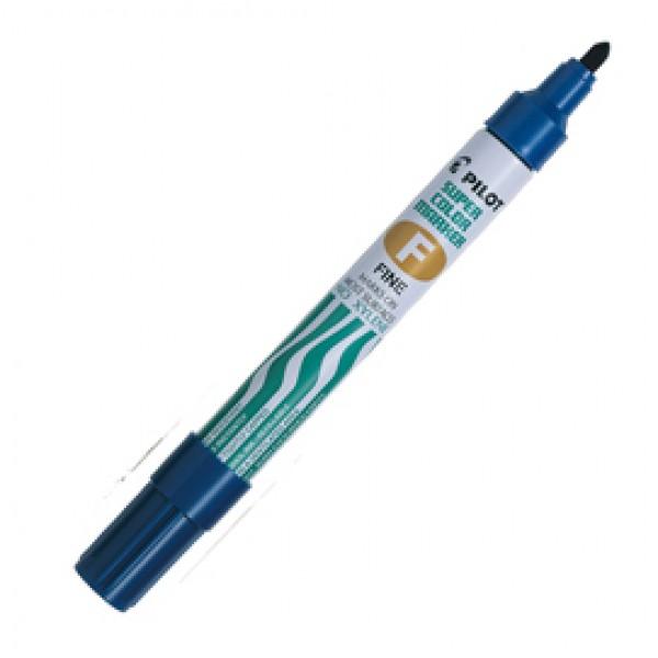 Marcatore Super Color - permanente - punta fine 4 mm - blu - Pilot