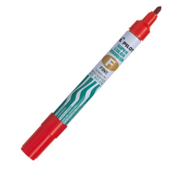 Marcatore Super Color - permanente - punta fine 4 mm - rosso - Pilot