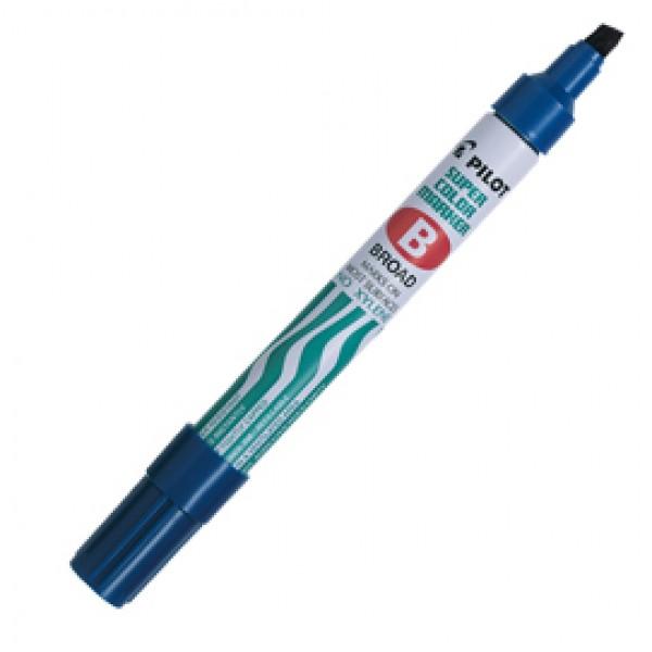 Marcatore Super Color - permanente - punta scalpello 5 mm - blu - Pilot