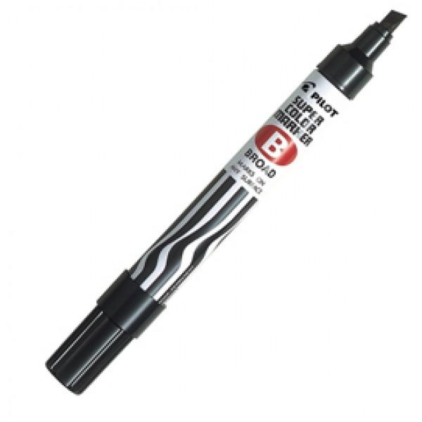 Marcatore Super Color - permanente - punta scalpello 5 mm - nero - Pilot