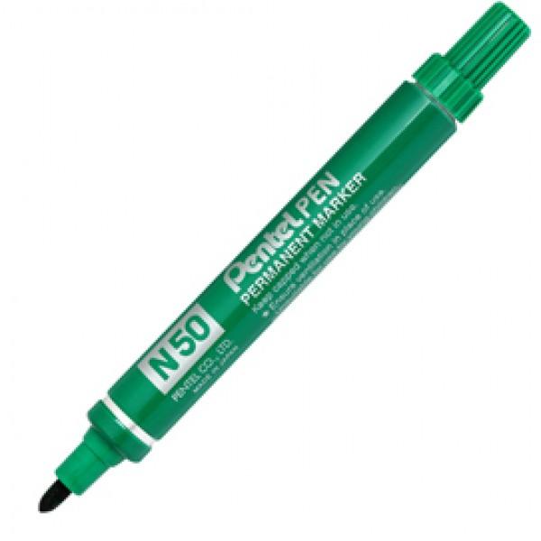 Marcatore permanente n. 50 - punta conica 4,3 mm - verde - Pentel