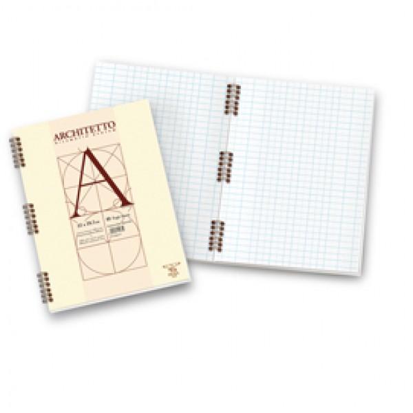 Blocco Architetto - 22x29,7mm - 10mm - 40 fogli - 100gr - spiralato - Pigna