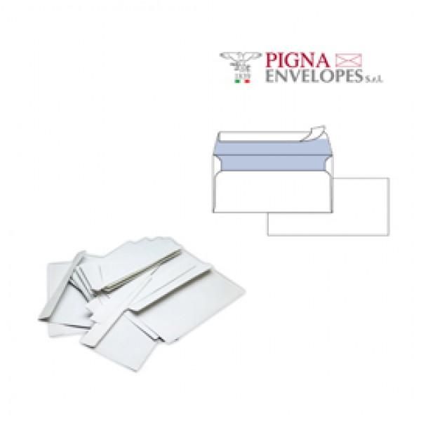 Busta bianca senza finestra - serie Edera Strip - 110x230 mm - 90 gr - Pigna - conf. 25 pezzi