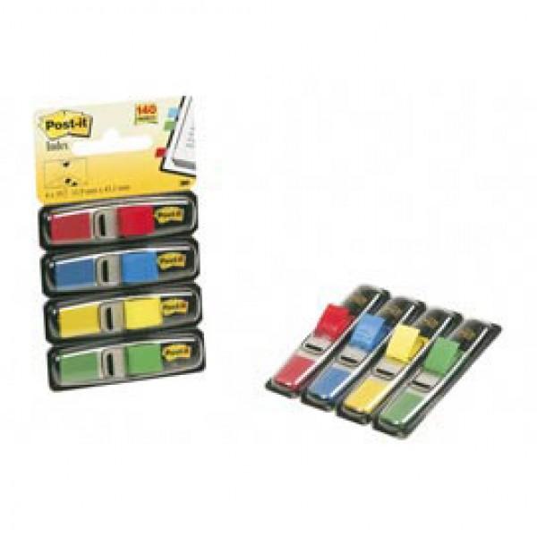 Miniset 140 Segnapagina Post-It Index 683-4 In 4 Colori Classici 12x43.6mm