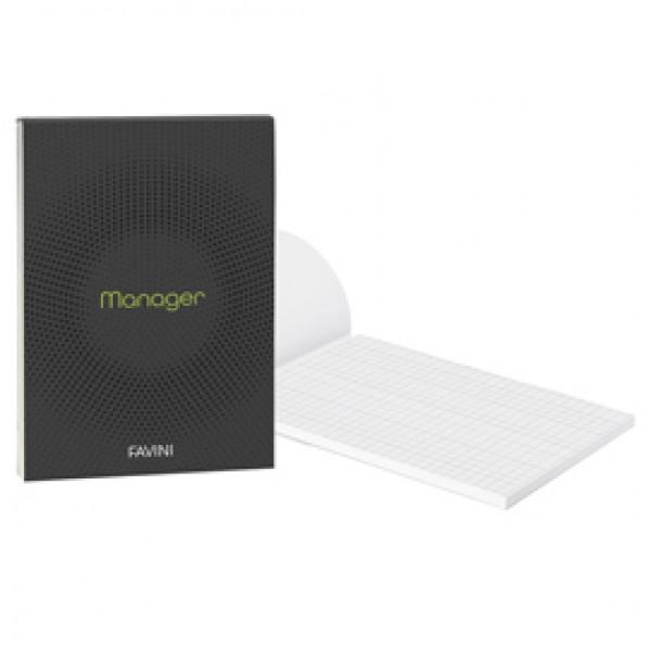 BLOCCO MANAGER 210x297cm 10mm 90FG 80GR FAVINI ( Conf. 5 ) - A423614