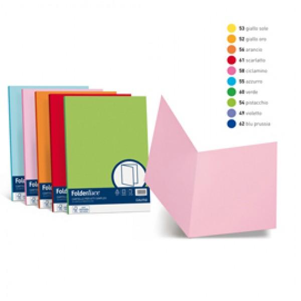 Cartelline in cartoncino Simplex Luce&Acqua Favini - giallo sole - A50B664 (conf.50)