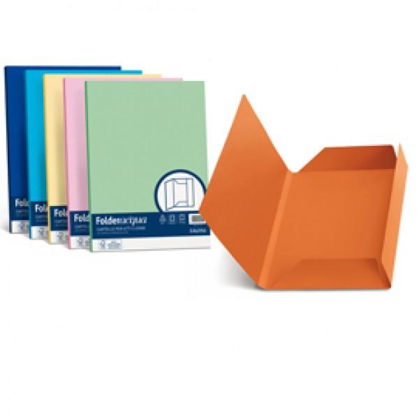 Cartelline in cartoncino 3 lembi Luce&Acqua Favini - giallo sole - A50B434 (conf.25)