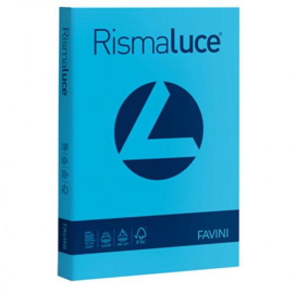 Carta e Cartoncino colorato Rismaluce Favini A4 - 200 gr. azzurro - A67G104 (risma 125)