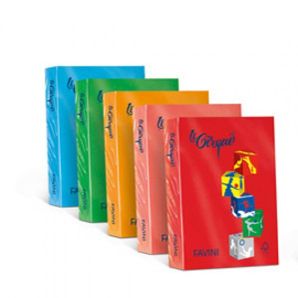 Carta colorata favini Le Cirque Colori forti - 80 gr. - rosso scarlatto - A71C504 (risma 500)