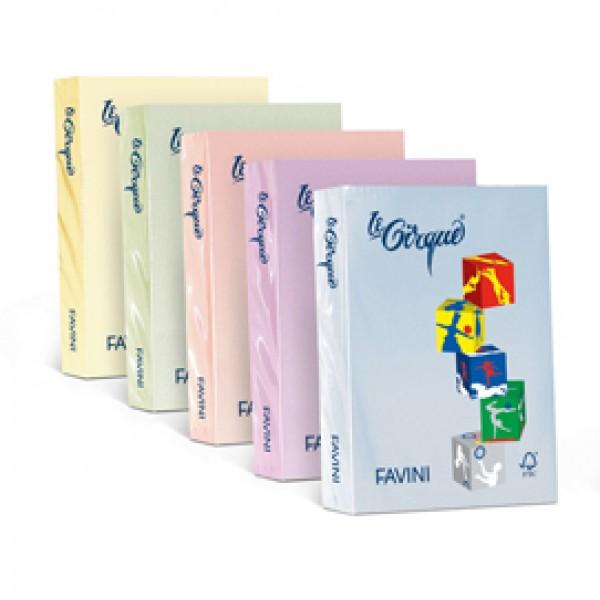 Carta e cartoncino colorato favini Le Cirque 160 gr. - giallo chiaro - A742304 (risma 250)