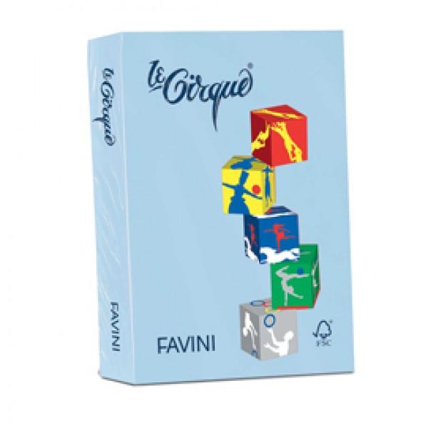 Carta e cartoncino colorato favini Le Cirque 160 g/mq - azzurro brillante - A74G304 (risma 250)
