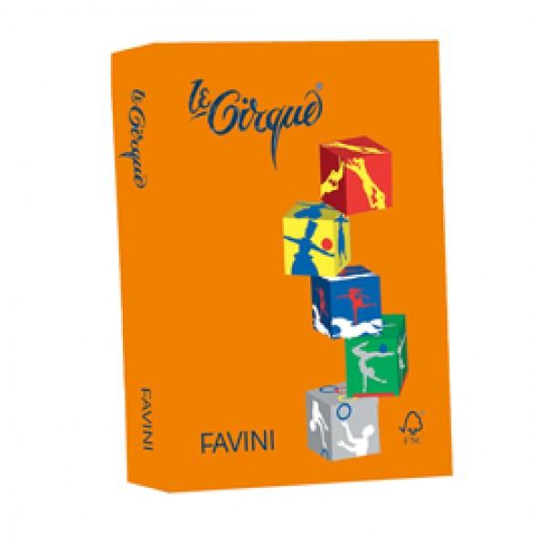 Carta e cartoncino colorato favini Le Cirque 160 gr. - arancio - A74E304 (risma 250)