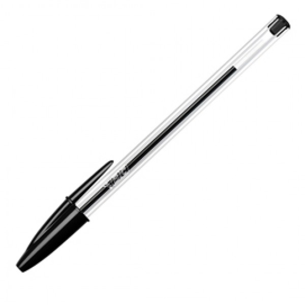 Penna a sfera Cristal - punta media 1,0 mm - nero - Bic - conf. 50 pezzi