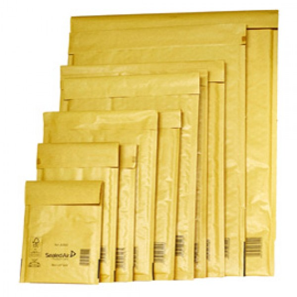 Busta imbottita Mail Lite® Gold - formato CD (18x16 cm) - avana - Sealed Air - conf. 10 pezzi