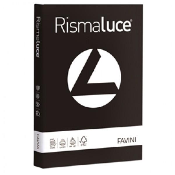 Carta colorata Rismaluce Favini - tinte forti - A3 - 200 g/mq - nero - A67A133 (risma125)