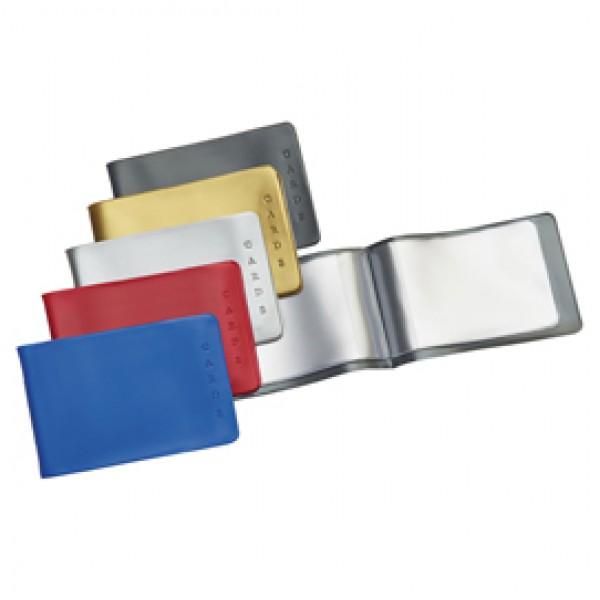 Porta Cards - 6 Tasche interne - PVC - 8,5x5,4 cm - colori assortiti - Favorit