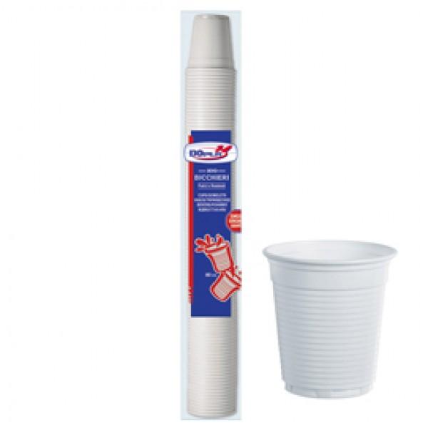Bicchieri da caffè - monouso - 80 cc - bianco - Dopla - conf. 100 pezzi