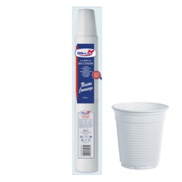 Bicchieri - monouso - 200 cc - bianco - Dopla - conf. 100 pezzi