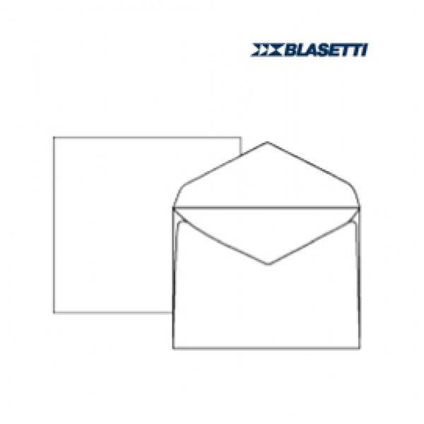 Busta bianca extrafine - serie Campidoglio - lembo gommato - 180x240 mm - 100 gr - Blasetti - conf. 500 pezzi